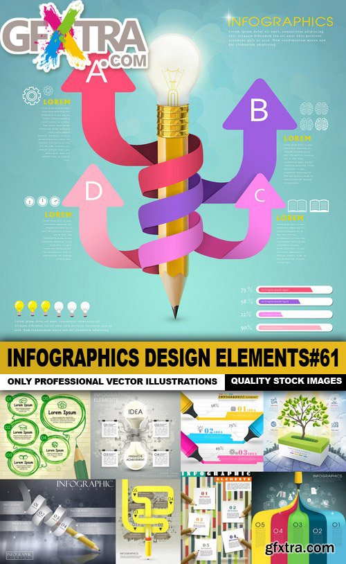 Infographics Design Elements#61 - 25 Vector