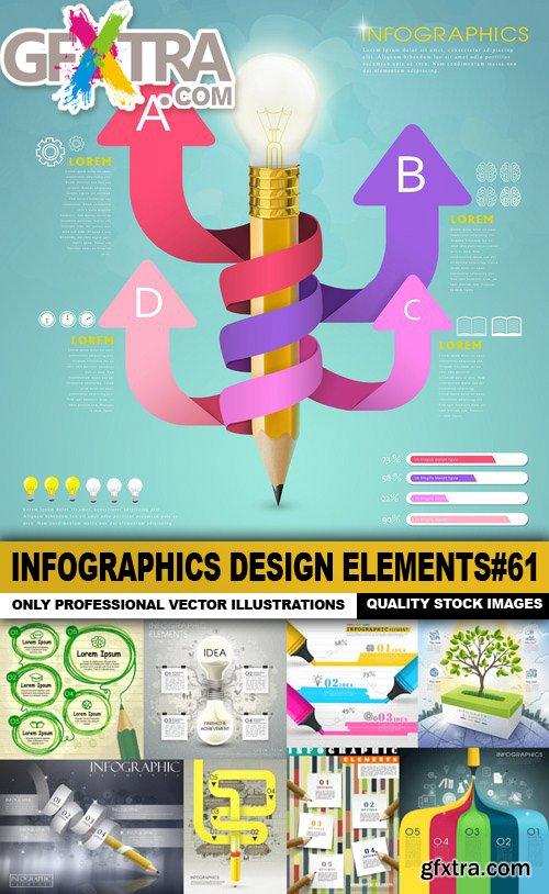 Infographics Design Elements#61 - 25 Vector