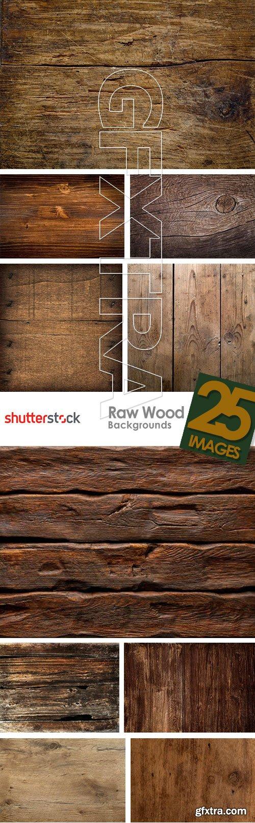 Raw Wood Backgrounds 25xJPG