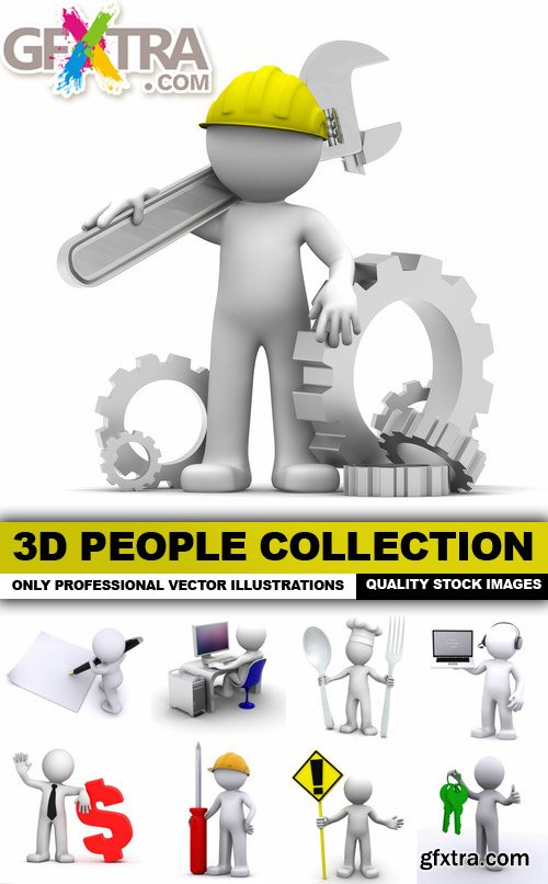 3D People Collection - 25 HQ Images