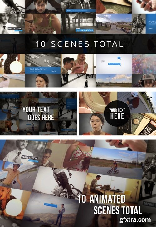 Videohive - Preview Video Screen Collage Grids 8737222
