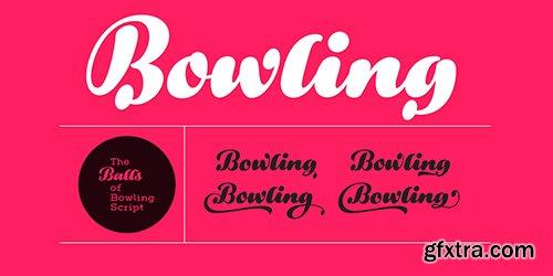 Bowling Script Font Family - 4 Font 193$