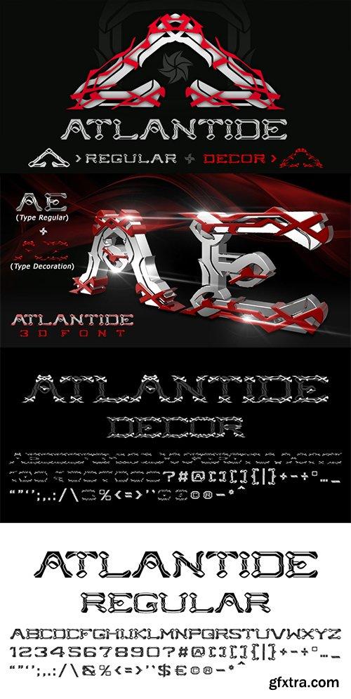 Atlantide Font Family - 2 Fonts 60$