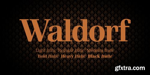 Waldorf Pro Font Family - 13 Fonts for $360