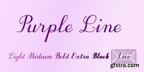 Purple Line Font Family - 6 Fonts for $49