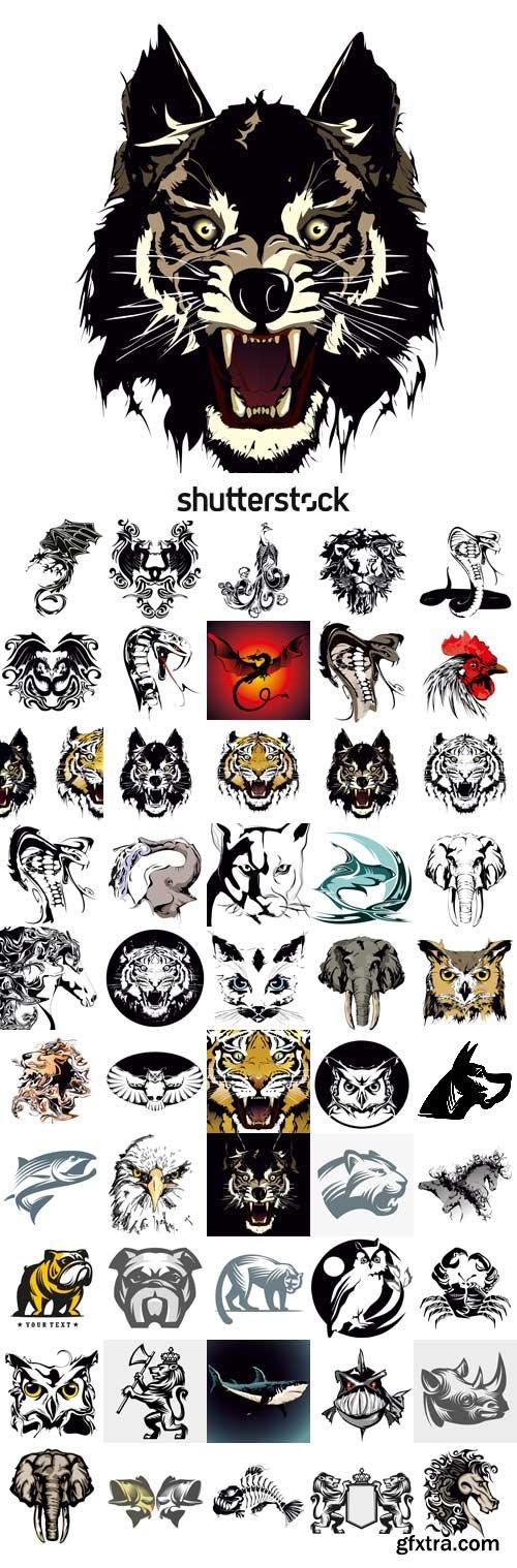 Shutterstock - Vector drawings of tattoos