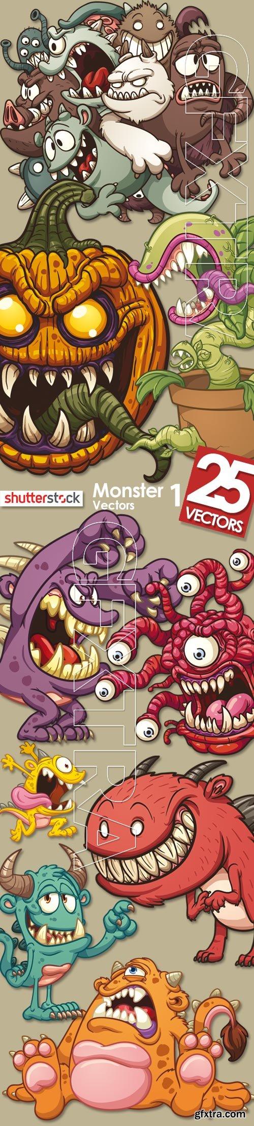 Monster Vectors 1, 25xEPS
