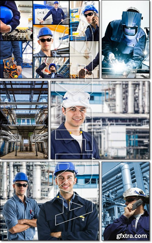 Workers work at the factory - Stock photo