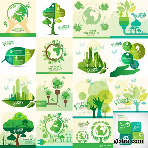 ECO Design Elements #4 - 25 Vector