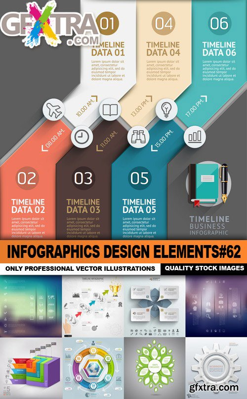 Infographics Design Elements#62 - 25 Vector