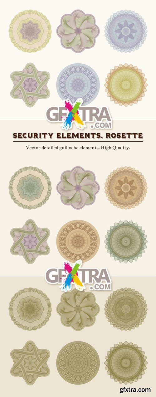 Secutity Elements - Rosettes Vector