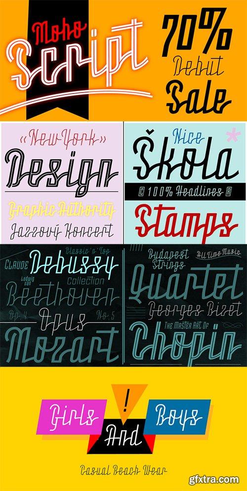 Moho Script Font Family - 6 Font $123
