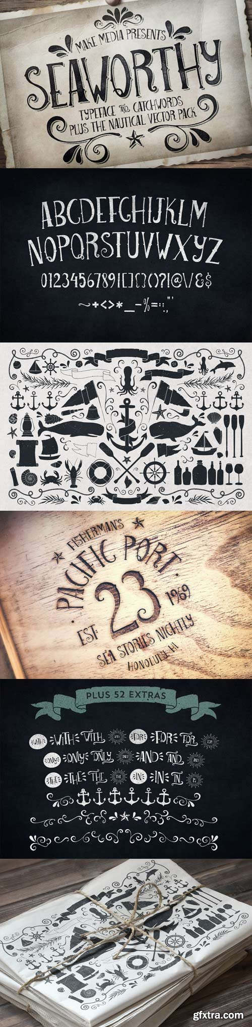 Seaworthy Font Family - 2 Fonts for $25