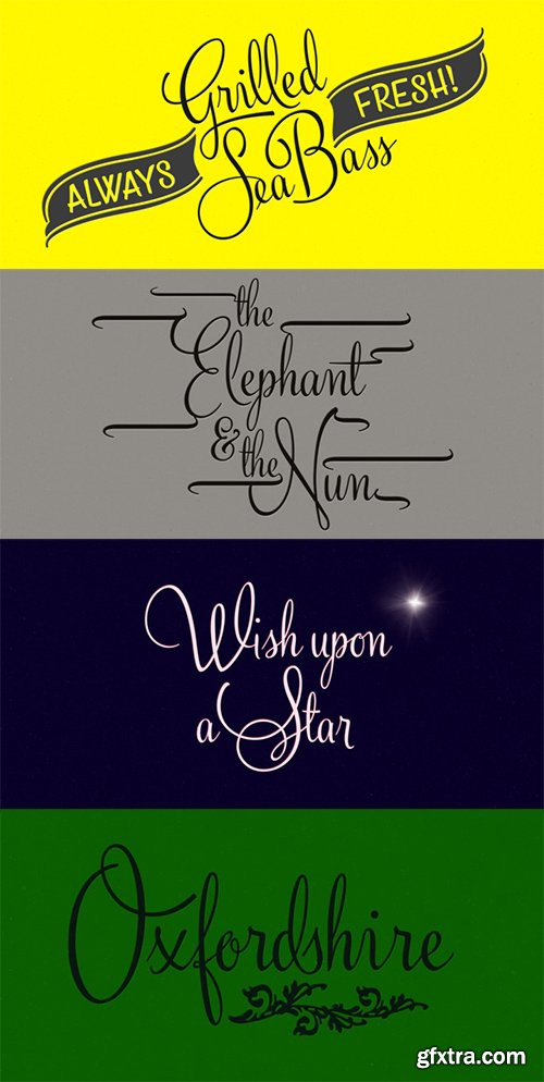 Silver Font Family - 3 Font $90