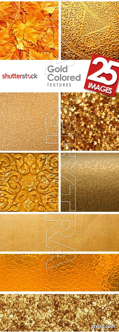 Gold Colored Textures 25xJPG