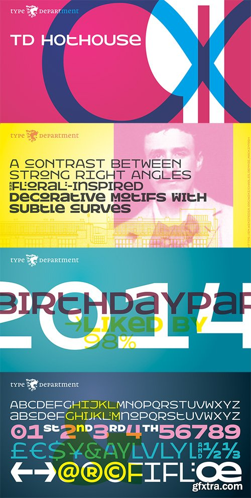 TD Hothouse Font Family - 3 Font $157