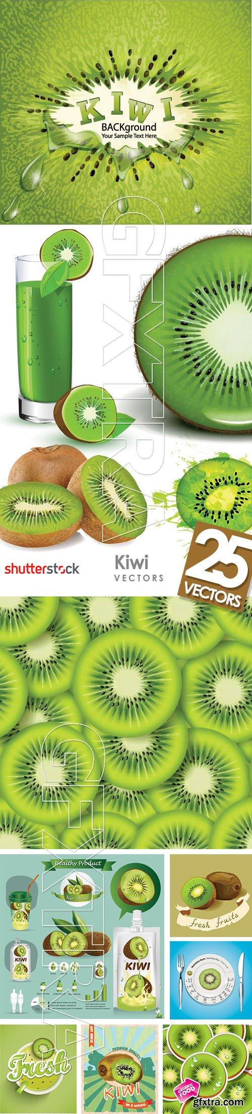 Kiwi Vectors 25xEPS
