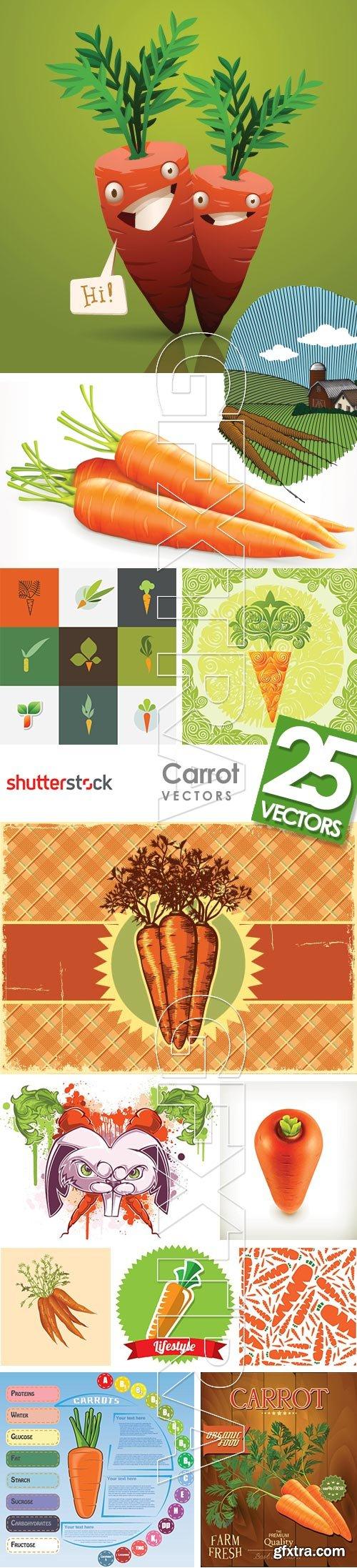 Carrot Vectors 25xEPS