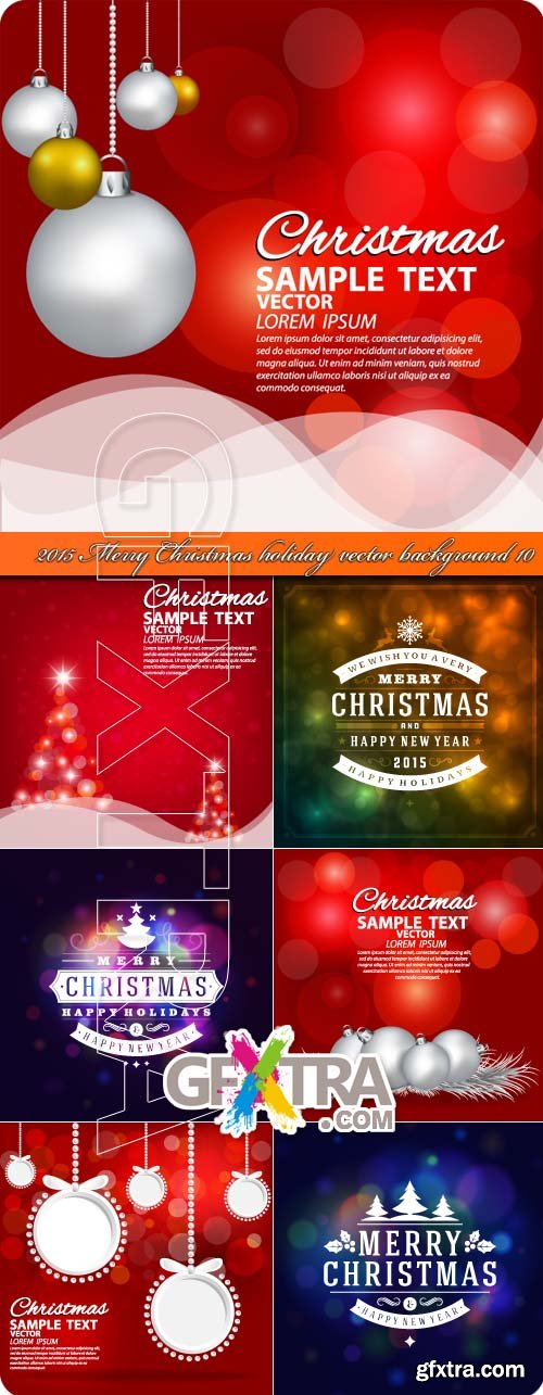 2015 Merry Christmas holiday vector background 10