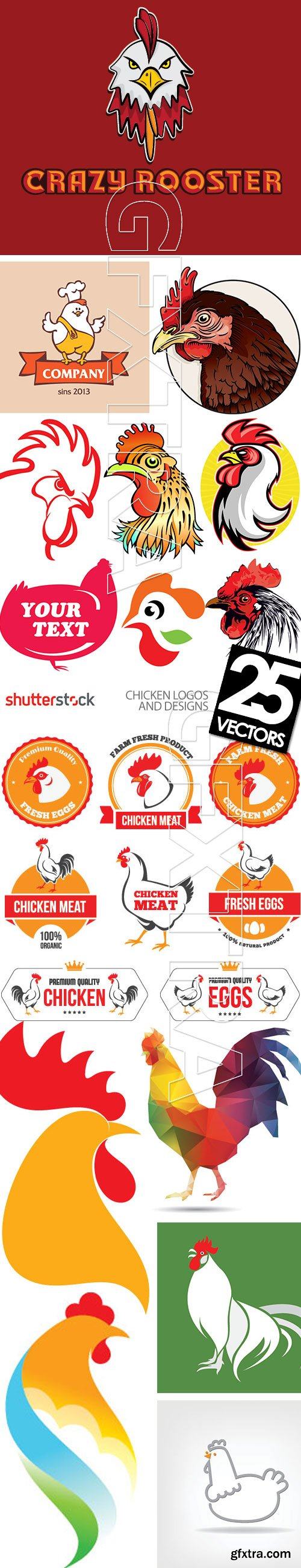Chicken Logos & Designs 25xEPS