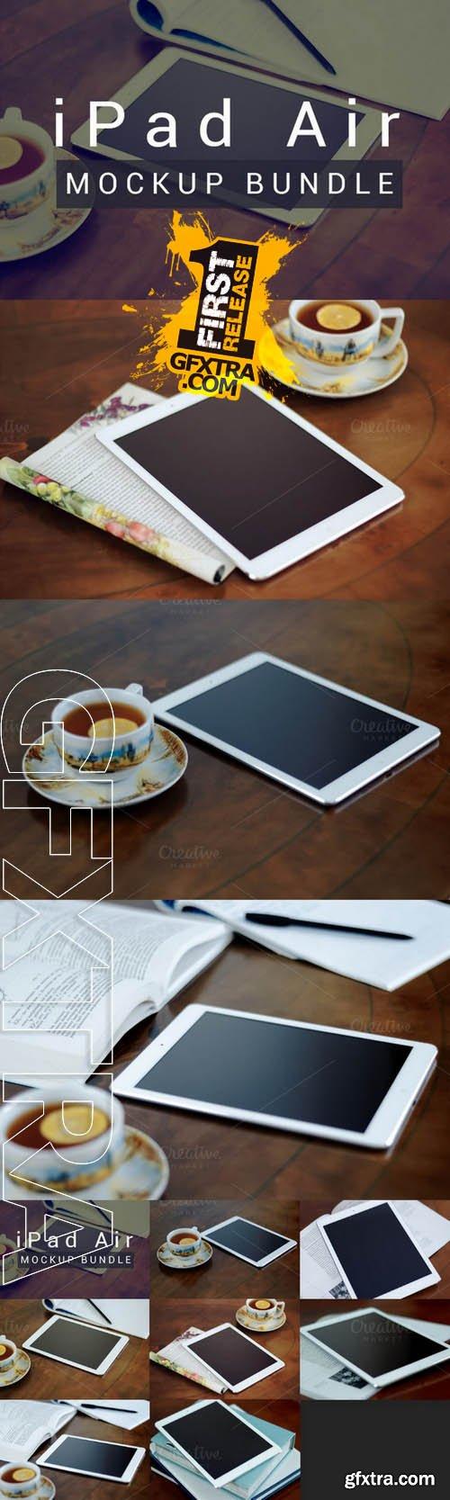 iPad Air - Photo Mockup Bundle - Creativemarket 102482