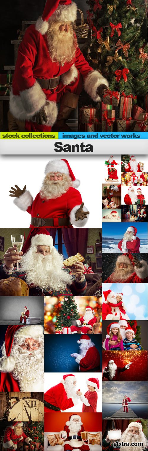 Santa,25 x UHQ JPEG