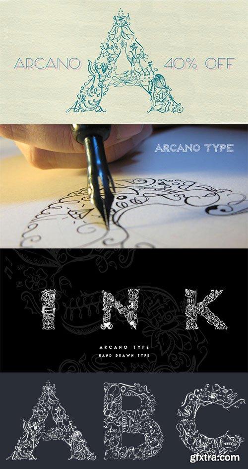 Arcano Decorative Font $39