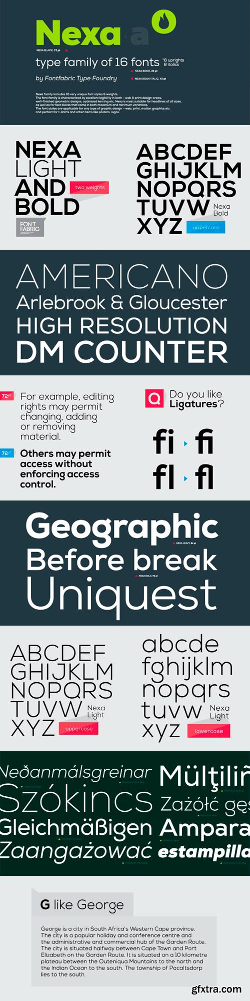 Nexa Font Family - 16 Fonts for $90
