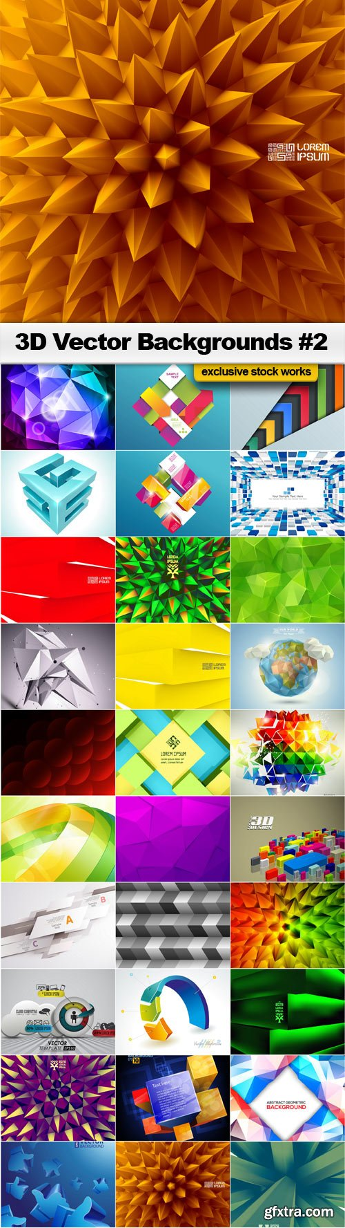 3D Vector Backgrounds #2 - 30x EPS