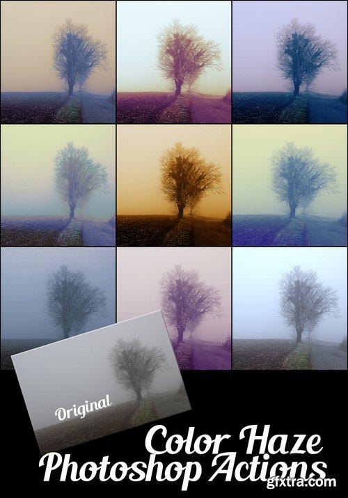 Color Haze Photoshop Actions