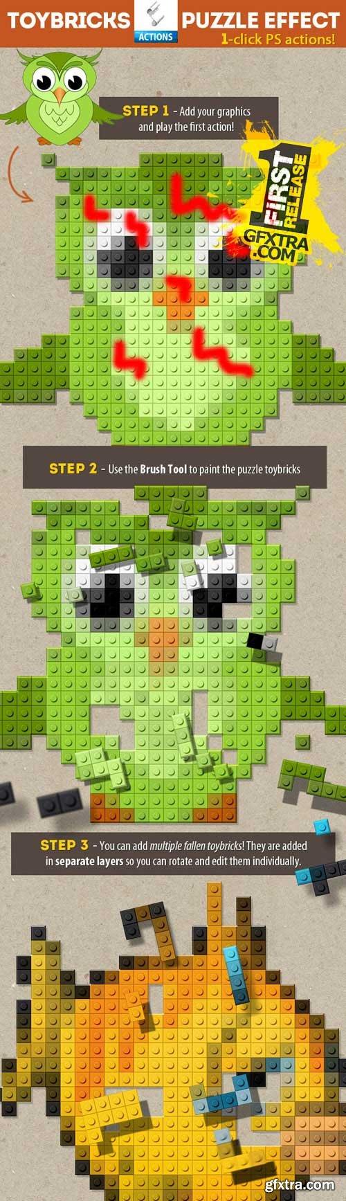 GraphicRiver - Lego Toy Bricks Puzzle Photoshop Actions 9337194