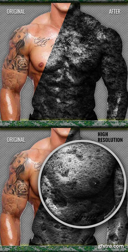 GraphicRiver - 7 Photorealistic Stone Actions 9299407