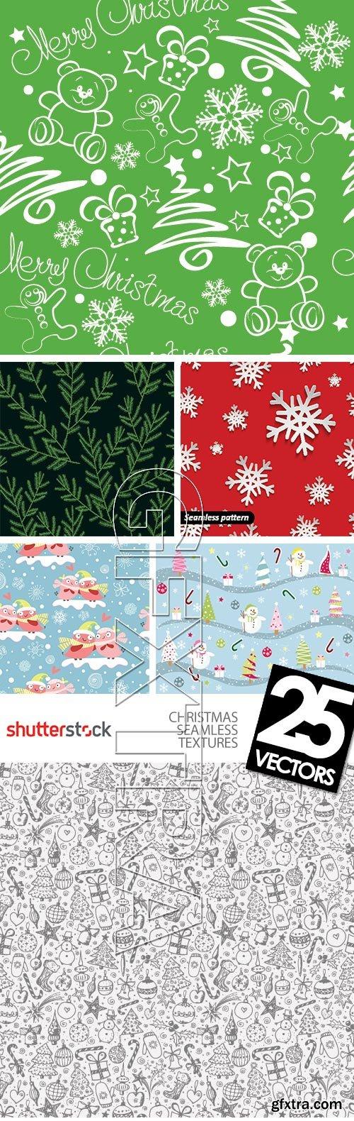 Christmas Seamless Textures 25xEPS