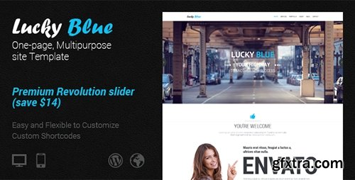 ThemeForest - Lucky Blue - Clean Site Template - RIP