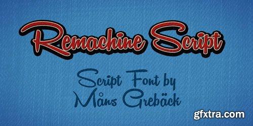 Remachine Script Font $59