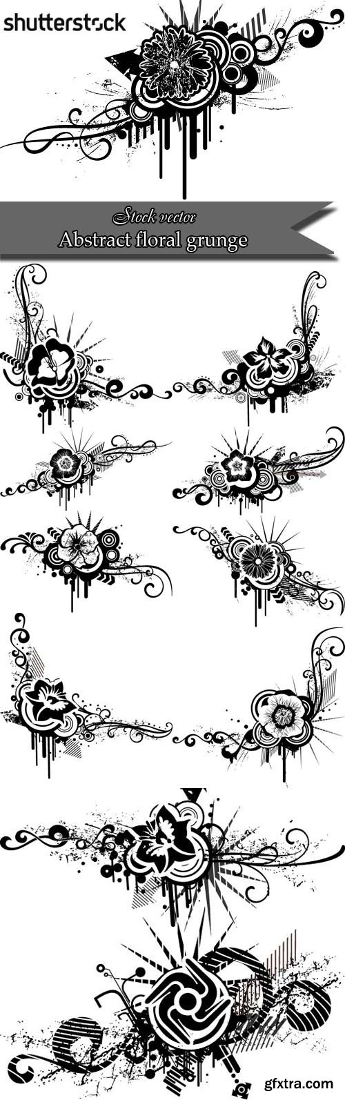 Abstract floral grunge