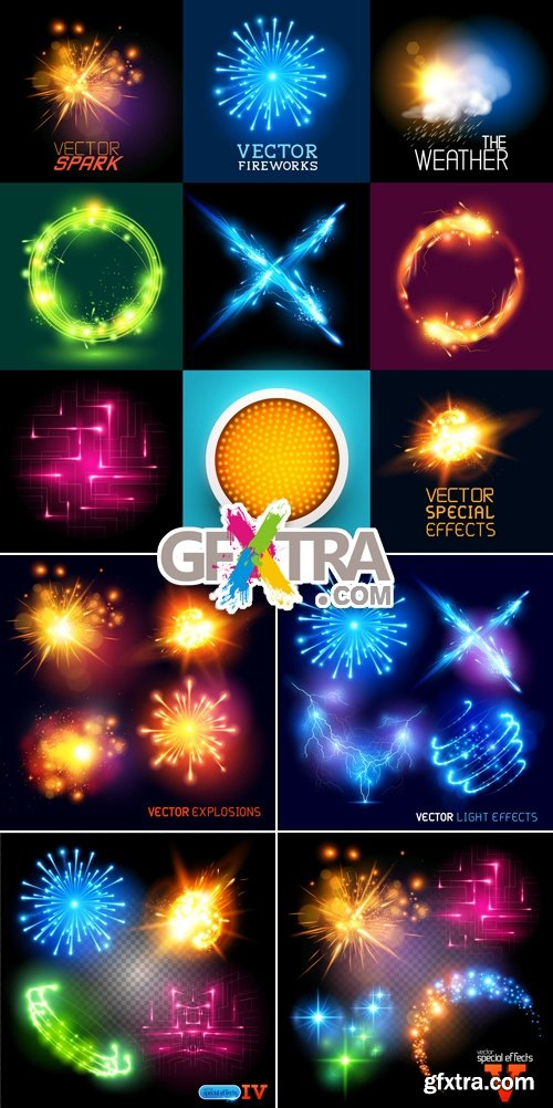 Light Effects & Explosions Vector