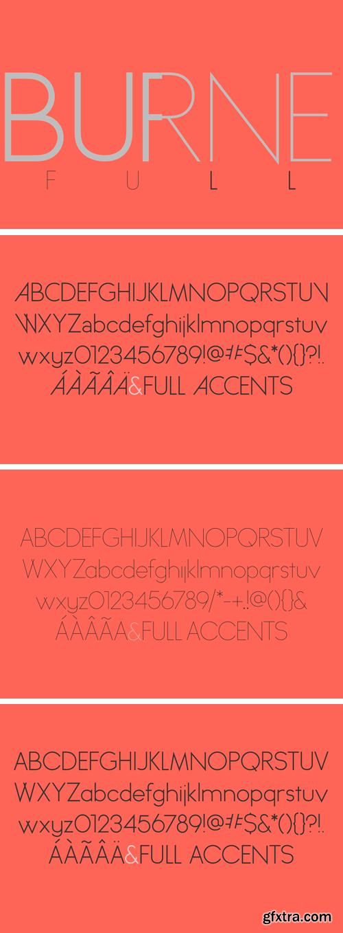 Burne Font Family - 3 Fonts for $12
