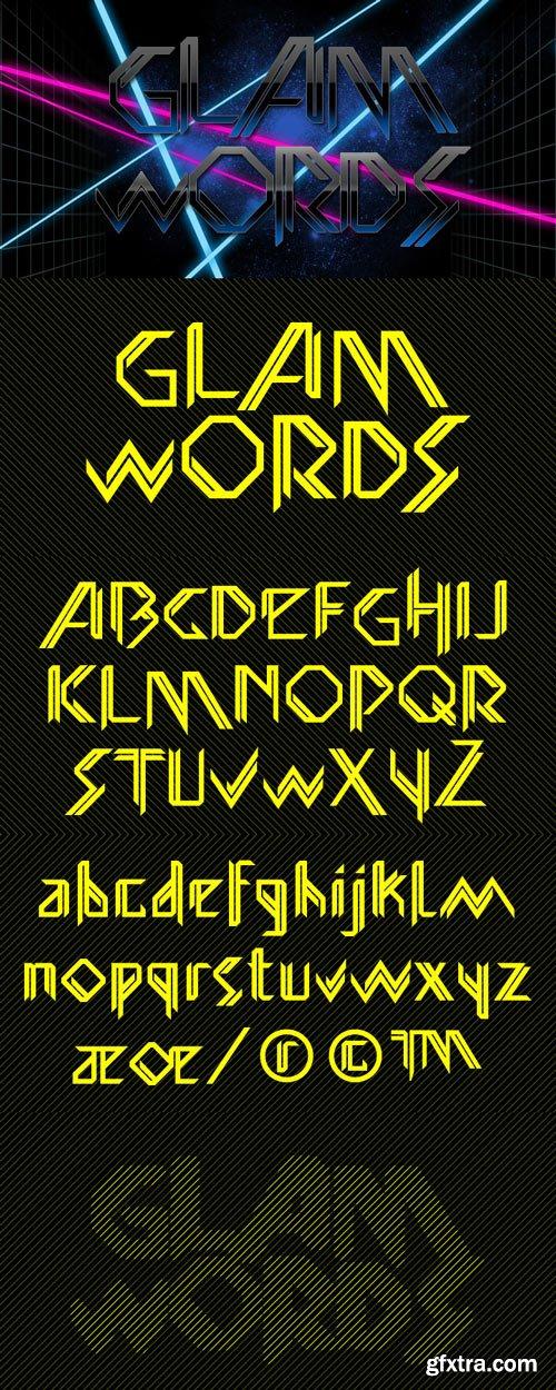 Glamword Font Family $19