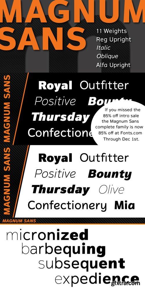 Magnum Sans Font Family $250