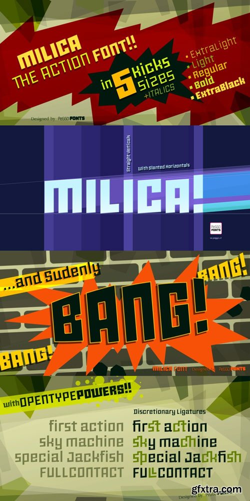 Milica Font Family $100