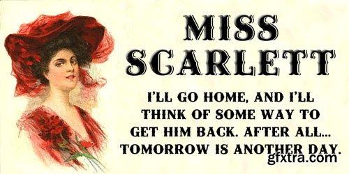 Miss Scarlett Font Family $30