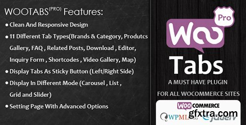 CodeCanyon - Woocommerce Tabs Pro v1.5 - Extra Tabs for Product Page