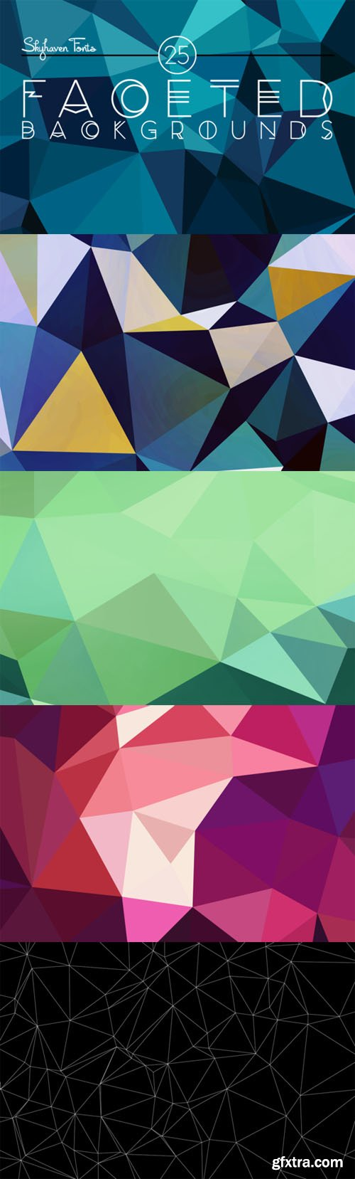 CM - 25 Faceted Backgrounds 27307