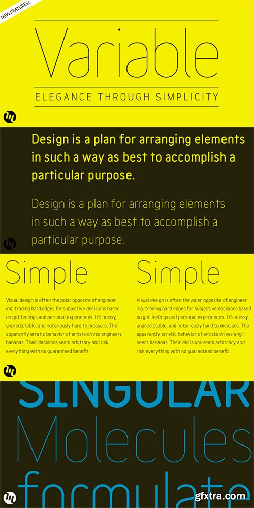 Variable Font Family - 10 Font 340$
