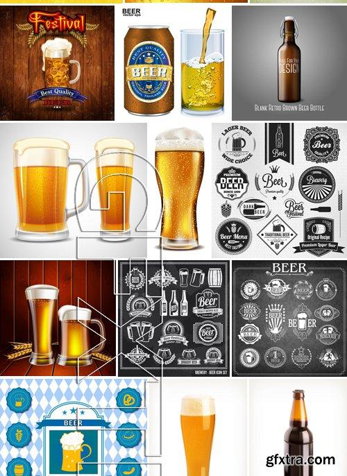Stock Vectors - Beer 4, 25xEPS