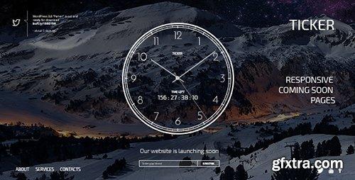 ThemeForest - TICKER: Responsive Countdown Clock Landing Page - RIP