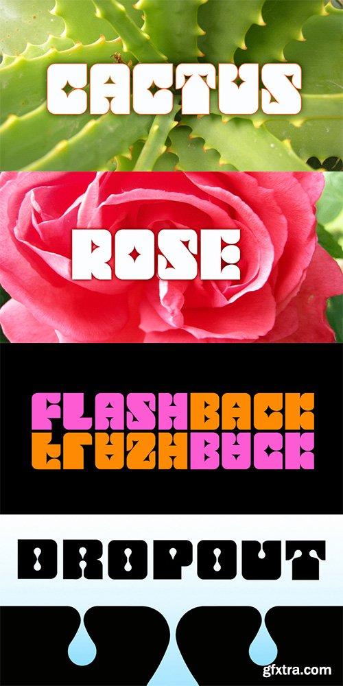 Flashback Font Family - 87$