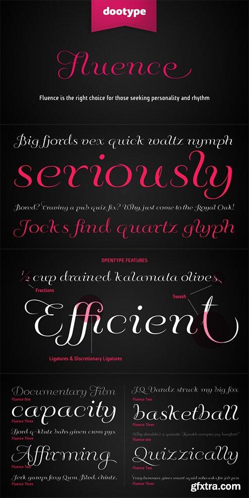 Fluence Font Family - 3 Fonts 60$