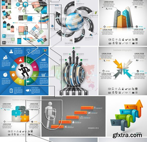 Stock Vectors - Infographics element 6, 25xEPS